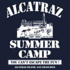 ALCATRAZ SUMMER CAMP wht by GUS3141592