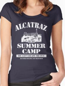 ALCATRAZ SUMMER CAMP wht Women's Fitted Scoop T-Shirt