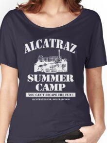 ALCATRAZ SUMMER CAMP wht Women's Relaxed Fit T-Shirt