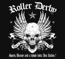 ROLLER DERBY SKULL by GUS3141592