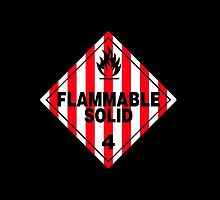 Flammable Solid Black by Rupert  Russell