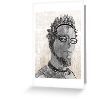 Typotrait Greeting Card