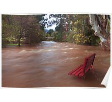 Yarra in flood Warburton  Poster