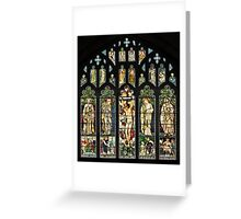 The East Window of Troutbeck Church, Cumbria Greeting Card