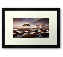 Sugar Loaf Islands, New Plymouth, NZ Framed Print