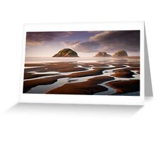 Sugar Loaf Islands, New Plymouth, NZ Greeting Card