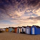 Beach Huts at Southwold by Kathy Wright