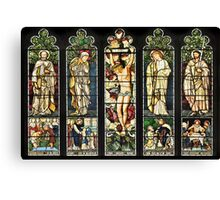 The East Window of Troutbeck Church, Cumbria Canvas Print