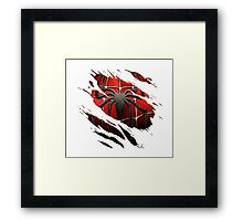 Spiderman Chest Framed Print