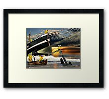 To hard to be a hero Framed Print