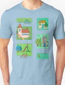 A Quiet Afternoon in Town Unisex T-Shirt