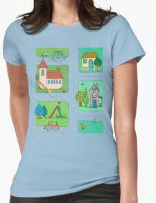 A Quiet Afternoon in Town Womens Fitted T-Shirt