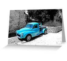 Old Blue Van Greeting Card