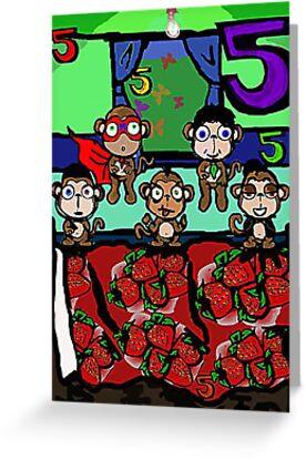 The Superheroes Alphabet- 5 little monkeys by strawberries