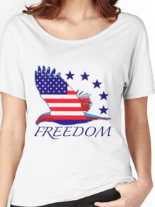 Freedom Eagle Women's Relaxed Fit T-Shirt