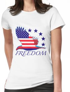 Freedom Eagle Womens Fitted T-Shirt