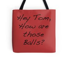 Tom Balls Red Tote Bag