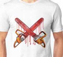 Bloody Zombie Chainsaws Unisex T-Shirt