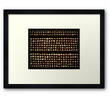 And all she saw were the giants pencils made of gold Framed Print