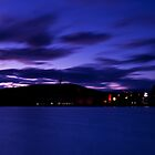 Darkening Canberra - The Blue Lake by Peter Doré