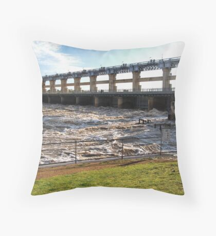 Yarrawonga Weir - Flood Water Throw Pillow