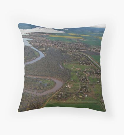 Yarrawonga from 3,000 feet Throw Pillow