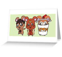Food Hamsters Greeting Card