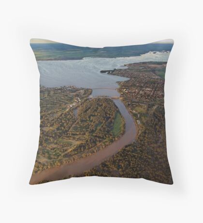 Yarrawonga Mulwala from the Air Throw Pillow