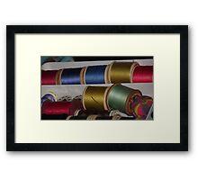coloured thread Framed Print