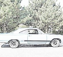 Classic car GTX Sketch by iona847