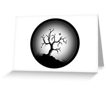 black tree Greeting Card