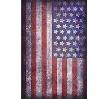 Worn Flag Illustration Photographic Print