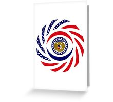 Missouri Murican Patriot Flag Series Greeting Card