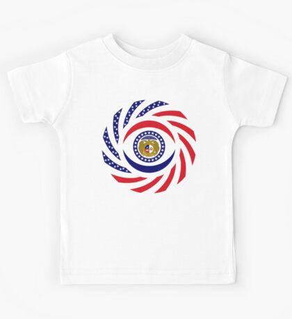 Missouri Murican Patriot Flag Series Kids Tee