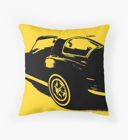Classic Sports Car  Throw Pillow