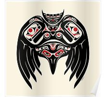 Raven Crow in a Pacific North West Style, Native American Style Poster