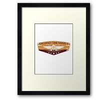 GALLIFREY TIME TRAVELS Framed Print