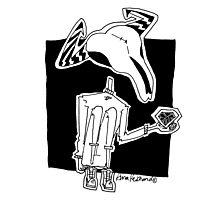 cow skull kid Photographic Print