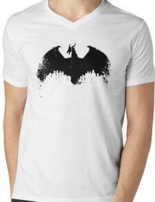 Dragon II Grunge Mens V-Neck T-Shirt