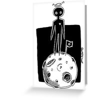 moon man Greeting Card