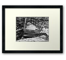Worn out Bridge Framed Print