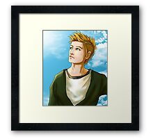 Blond Blue-Eyed Framed Print