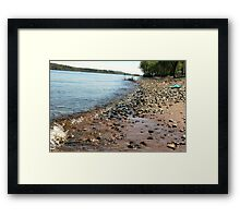 bayport beach. Framed Print