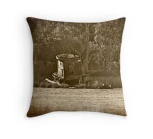 The Old Abandoned Tug Boat Throw Pillow