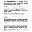 COPYRIGHT 101 - The Sticker by BYRON