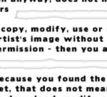 COPYRIGHT 101 - The Sticker Sticker