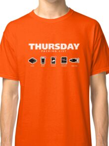 THURSDAY - The Hitchhiker's Guide to the Galaxy Packing List Classic T-Shirt