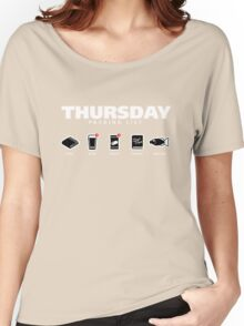 THURSDAY - The Hitchhiker's Guide to the Galaxy Packing List Women's Relaxed Fit T-Shirt