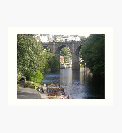 The River Nidd, Knaresborough Art Print