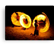 Playing with fire (1) Canvas Print